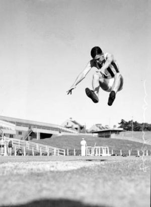 One of the world's best: Basil Dickinson at a Sydney athletics meet in 1935.