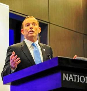 """""""Households will be better off to the tune of $550 a year."""": Tony Abbott."""
