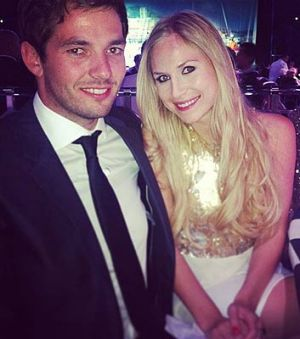 Sean Edwards, with girlfriend Laura.
