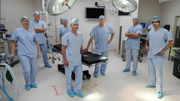 Andreas Obermair's team at the Queensland Centre for Gynaecological Cancer.