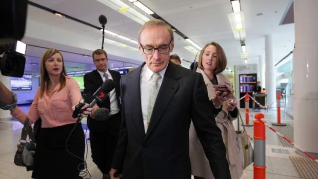Bob Carr: 'if he's not travelling the world for the government he's lost interest in the Senate he just stood for.'