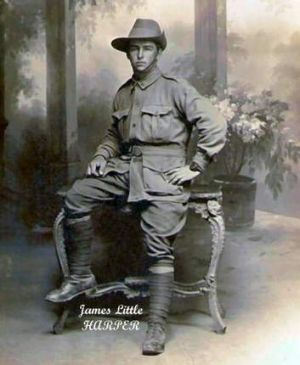 James Harper, who died at the battle of Mouquet Farm in 1916 in northern France.