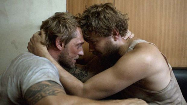 Hostage situation: Pilou Asbaek and Roland Moller face a long wait.
