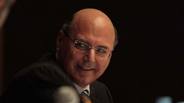 Making lots of noise ... Assistant Treasurer Arthur Sinodinos.