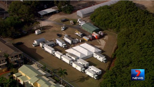 Angelina Jolie's movie production compound at Cleveland. Photo: Seven News.