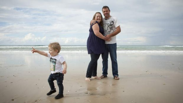 No regrets … Rachel and Stuart Maloney, with son Nate, had to find $30,000 for IVF treatment.