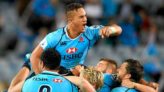 Over the moon: Waratahs winger Peter Betham is a shock starter for the Wallabies against the All Blacks on Saturday.