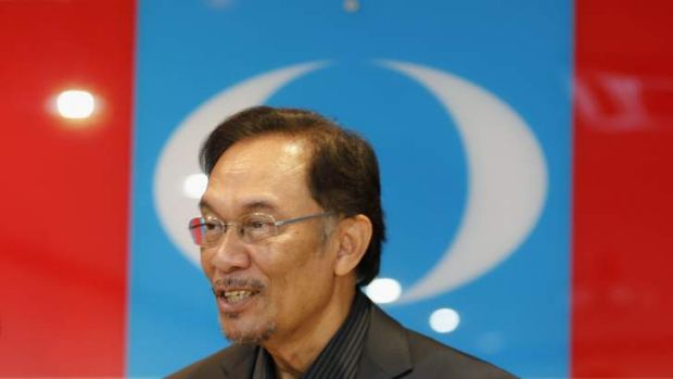 Malaysia's opposition leader Anwar Ibrahim.