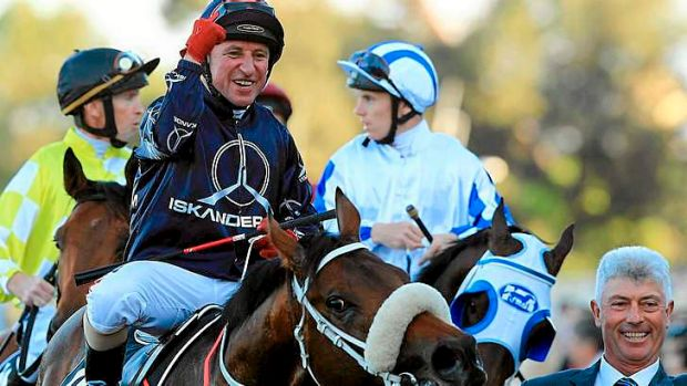 Pumped: Jimmy Cassidy after winning on Zoustar last month.
