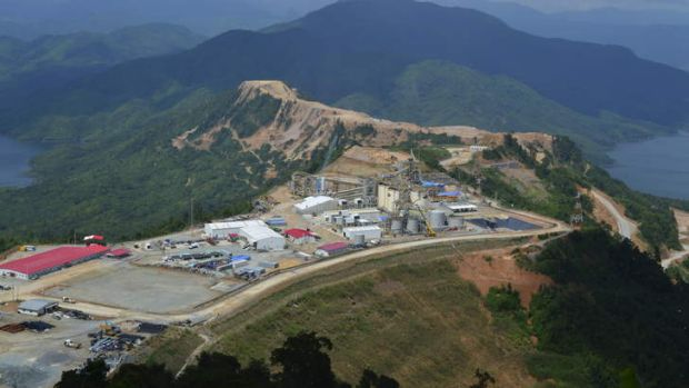 An aerial view of the mine at Phu Kham.