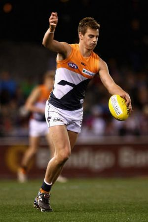 Big trade: Dom Tyson, pick 3 in the 2011 national draft, heads to Melbourne as part of a deal that sends pick 2 to GWS.