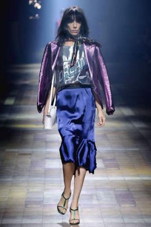 An outfit from Lanvin's runway.