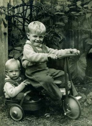 Christmas 1956, in the drivers seat is brother Brian Ernest Livingston and in the back Paul.