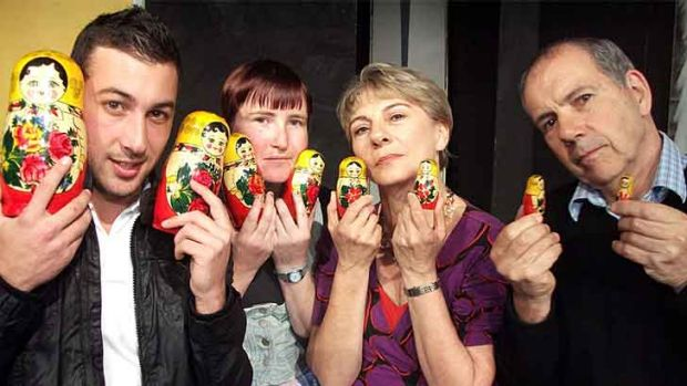 Tara Smith, Giuseppe Rotondella, Sharon Menzies and Peter Bloor are appearing in <i>Audience with Murder</i>.