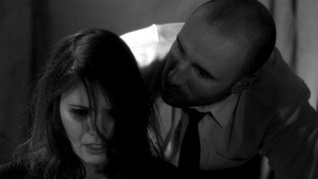 Laura Collier as Elizabeth Jons and Andreas Piechulik as Royce Bedford in <i> The Silent City</i>.