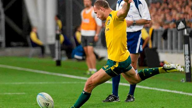 Perfect: Quade Cooper had a 100 per cent success rate with the boot.