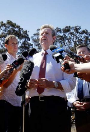 Cuts to staff and funding: NSW Premier Barry O'Farrell.