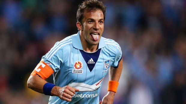 Derby doubt: Alessandro Del Piero limped off with a calf injury.