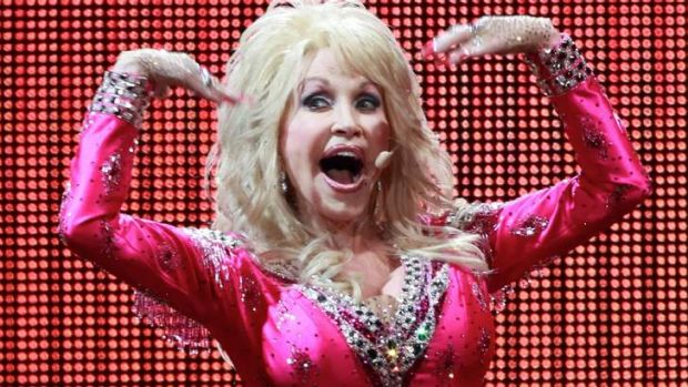 It's showtime: Dolly Parton performs for Melbourne crowds during her last tour.