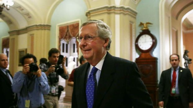 US Senate Minority Leader Senator Mitch McConnell is considered an establishment Republican by Tea Party supporters.