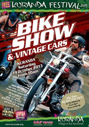 A poster for the Kuranda bike show.
