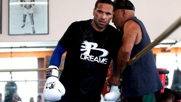 Anthony Mundine says he still needs to lose about 1.5kg before the weigh-in.