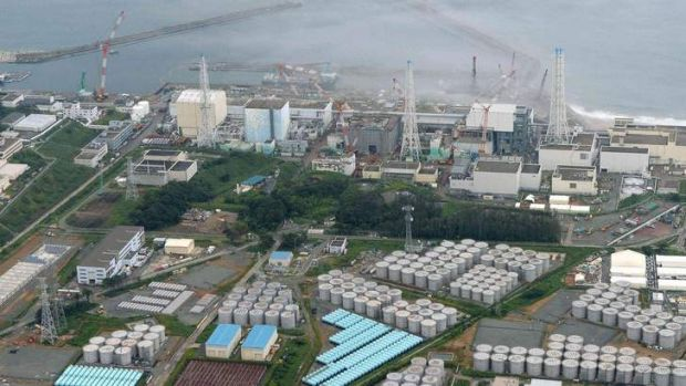 Long list of setbacks: the Fukushima nuclear power plant, with contaminated water storage tanks at bottom.