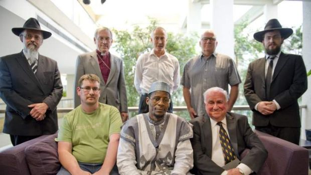 OPPOSING THE BILL: (Back row) Rabbi Shimon Cowen; Bishop Trevor Edwards, vicar general of the Anglican Diocese of ...