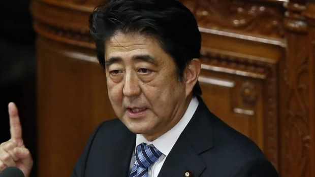 Japan's Prime Minister Shinzo Abe wants Japan to review its arms export controls.