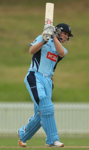 Sweep success: Blues batsman Nic Maddinson.