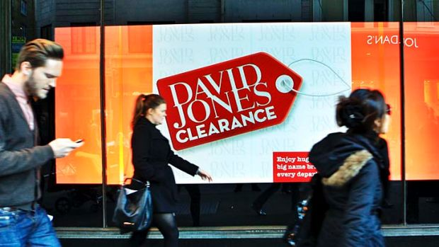 David Jones sales were boosted by online sales which surged 190 per cent in the third quarter.