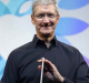 Apple CEO Tim Cook shows off the iPad Air.