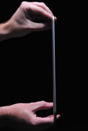 A side view of Apple's new iPad Air.