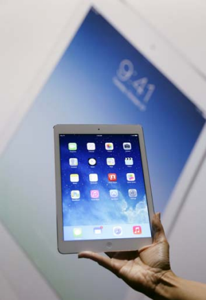 Apple's new iPad Air.