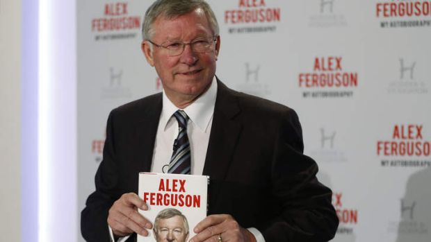 Book launch: Sir Alex Ferguson was critical of some of his former players.