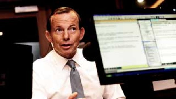 Prime Minister Tony Abbott speaking to Neil Mitchell on radio 3AW .