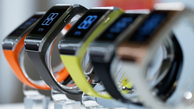 'So far the concept of the smartwatch is questionable': Samsung Galaxy Gear watches.
