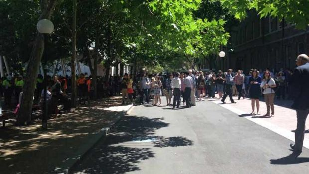 Chemical spill: 5000 people were evacuated from UTS.