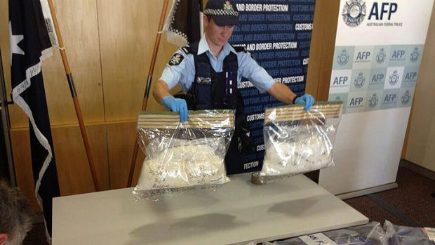 Federal Police discovered 7kg of methamphetamine in a Perth couple's luggage.