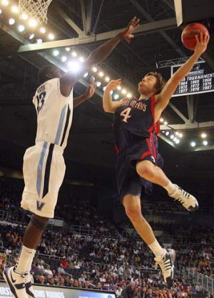 Rising to the challenge: Australia's Matthew Dellavedova during his time at Californian college team Saint Mary's Gaels.