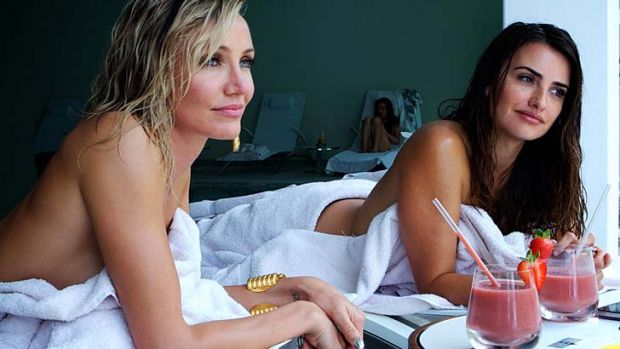 Cameron Diaz and Penelope Cruz in <em>The Counselor</em>.