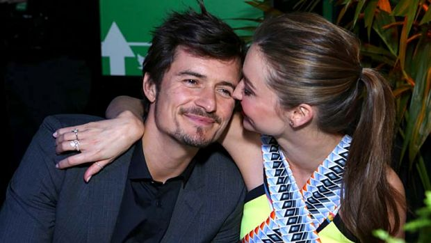 Orlando Bloom and Miranda Kerr.