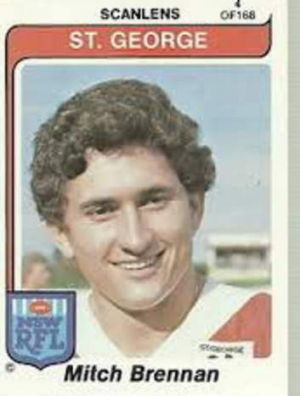 A highly sought (in 1981) Mitch Brennan footy card.
