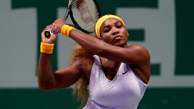 Tired and emotional: Serena Williams is through to the final of the WTA Championships, despite battling fatigue.