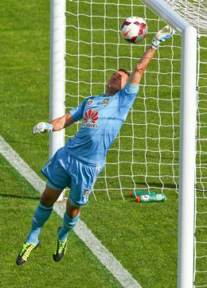 Wellington's Glen Moss produced a wonder save to deny the Jets a winner.