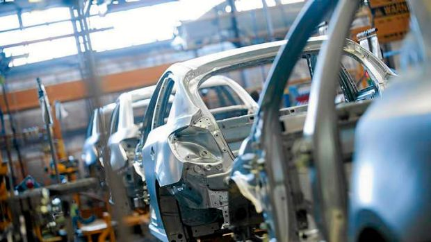 The production line at the Holden Elizabeth plant in SA.