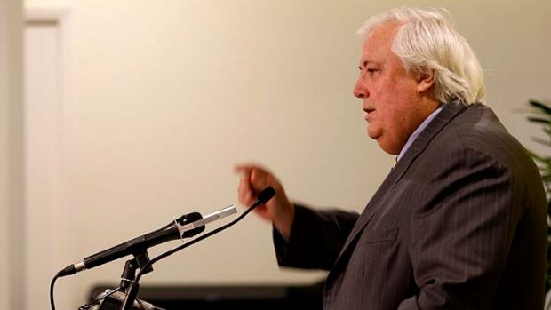 Canberra-bound: Clive Palmer secures Fairfax after recount.