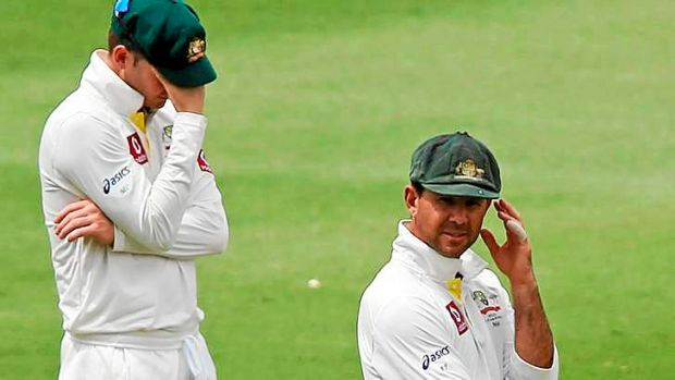 Rift: Michael Clarke (L) and Ricky Ponting.