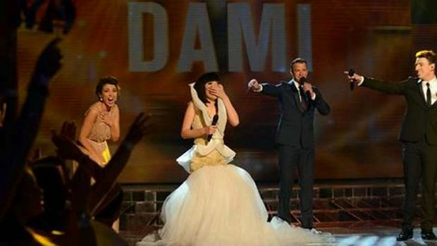Dami Im is announced as X Factor 2013 winner.