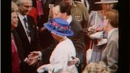 Paul Keating guides HRH Queen Elizbaeth with a hand on her back which was considered a gesture showing too relaxed an ...